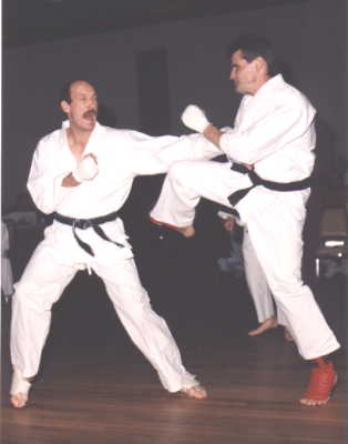 Martin and Walt Sparring